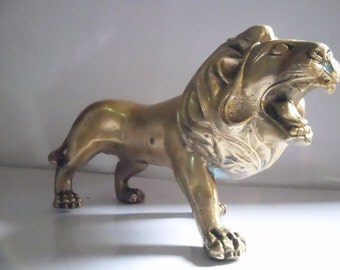 A beautifully crafted brass lion