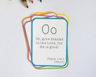 Alphabet Bible Verse Flashcard Set - Printable PDF