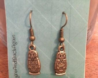Bronze Nesting Dolls Earrings