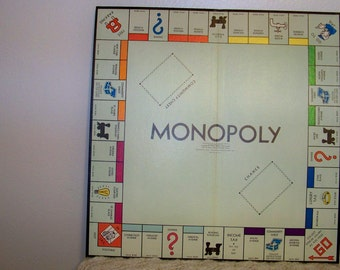 1954 Monopoly Game Board - Popular Edition