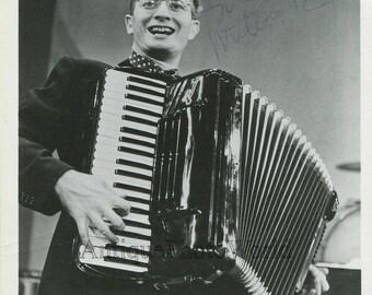 Milton DeLugg accordion player vintage music autographed photo