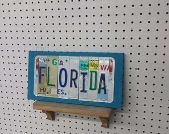 License Plate Sign License Plate letter Art Picture Home Deco FLORIDA License Plate Letter Sign License Plate Art