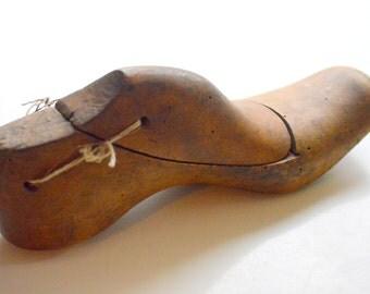 Vintage Wood Shoe Mold Form #1