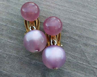 Purple Moonglo Lucite Earrings