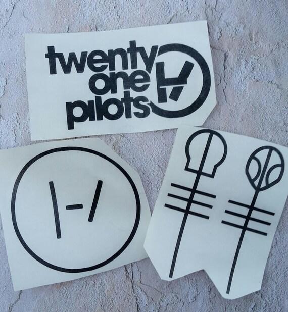 Car Decal Set Of 3 Twenty One Pilots Logo By