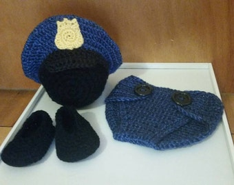 Baby Police Costume and Photo Prop