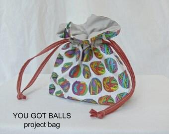 YOU GOT BALLS (grey sienna) – project bag