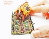 Custom listing for JACQUELINE - Halloween Haunted Gingerbread House Graveyard Scene - Miniature 1:12 Scale Food
