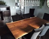 Live Edge Table, Live Edge Dining Table, Wood Slab Furniture, Wood Slabs, Black Walnut Table, Maple live edge