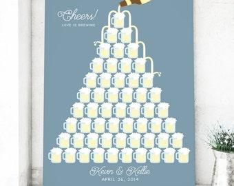 Beer Wedding Canvas Guest Book Alternative - Brewery Wedding - Canvas Guestbook - Beer Theme Wedding