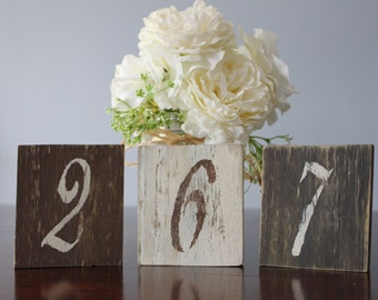 Rustic  Wood Table Numbers Set of 11, Shabby Chic, Wedding table numbers, Rustic Wedding Decor, Country Wedding Decor, Wood Table Numbers