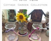 Cottage Garden Trivet with Matching Cord - Made to Order