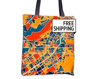 Riverside Map Tote Bag - California Map Tote Bag 15x15
