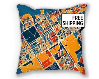 Islamabad Map Pillow - Pakistan Map Pillow 18x18