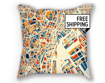 Tokyo Map Pillow - Japan Map Pillow 18x18