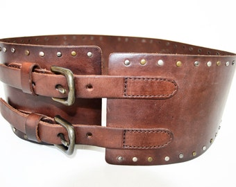 Pepe jeans wide leather belt size 80