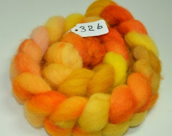 Hand Dyed Cheviot Roving  4 Ounces  Inv 326