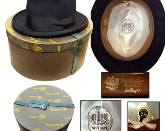 Vintage Stetson Homburg With Box / Gangster Hat / Rockabilly Hat / Swing Kid Hat / Capone Hat