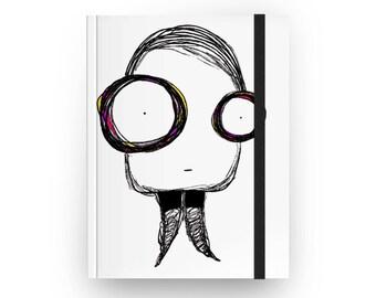 Twiggy Hardcover Journal, Twiggy Sketchbook, Twiggy Notebook, Fashion Notebook
