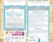 Custom Prospecting Cards, Catalog Insert, Rack Card, Quatrefoil Design - DIGITAL FILE