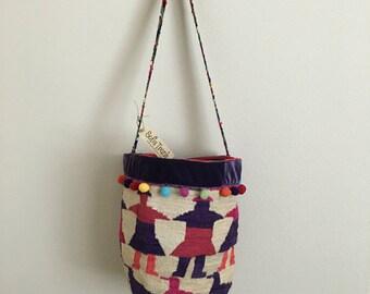 Shigra Bag with Multicolored Strap