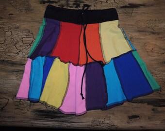 Little Girls Rainbow Upcycled T-Shirt Skirt~Sz. 5T-?