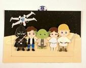 Star Wars Birthday Invitation Darth Vader Yoda Luke