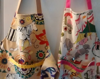 Child's apron, assorted patterns