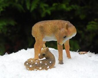Miniature Deer, Fawn, doe accessories fairy garden, Miniature garden supplies, terrarium supply, woodland garden, winter wonderland