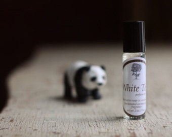White Tea Perfume Oil. Roll On Bottle. Purse and Travel Size.