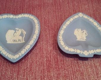 Jasperware Spade and Heart Plates