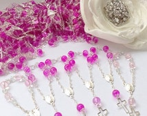 10%off weekend sale 50 pcs First communion favors Recuerditos Bautizo / Mini Rosary Baptism Favors 50 pcs
