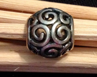 Sterling Silver Swirls and Curls Bead (st - 1587)