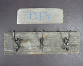"DIY Barn wood sign material, Rustic Wedding, (101) DIY jewelry hanger or scarf hanger, Rustic sign,  17 1/2"" x 5"" x 3/4""+"
