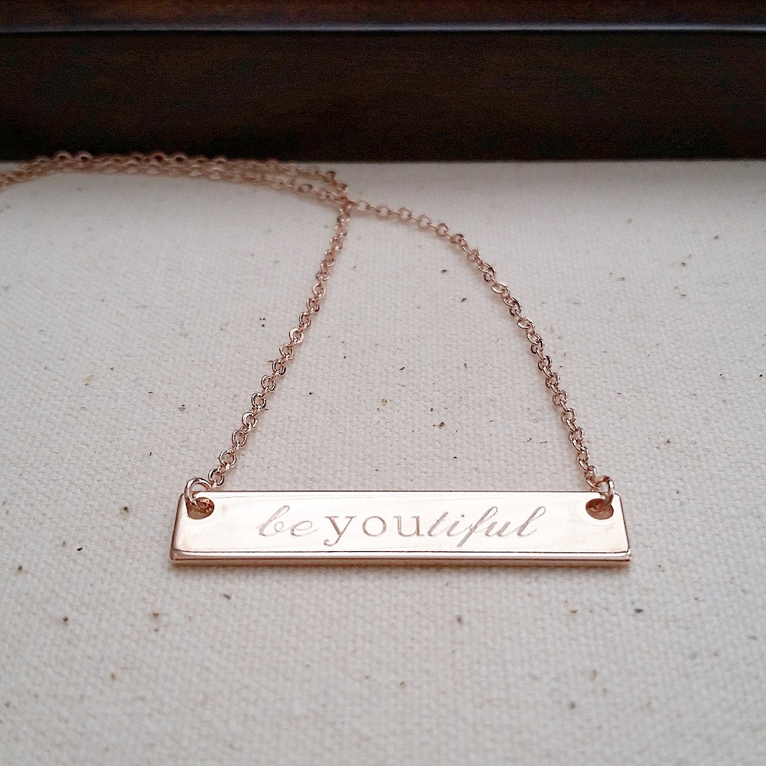 classic engraved bar necklace personalized jewelry. Black Bedroom Furniture Sets. Home Design Ideas