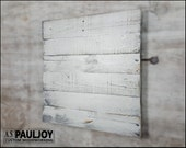 Photography Background, Surface or Prop Distressed Light Grey Painted Rustic Wooden Panel. Blank Recycled Pallet Sign. Wedding Decoration