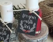 Chalkboard Style Christmas Tags. Nail Polish Stocking Stuffer Favor Tag Set. Cute Chalkboard Nail Tags. For Your Mistletoes Nail Polish Tags