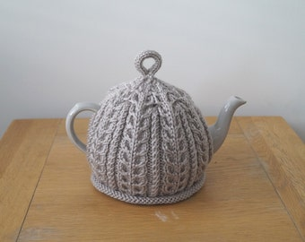 Hand Knitted Tea Cosy Taupe - IMBER