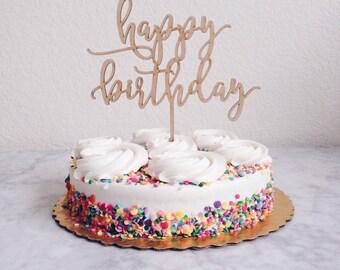 Happy Birthday Cake Topper, Birthday Cake Topper, Custom Cake Topper, DIY Cake Topper