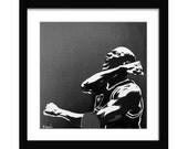 12 x 12 Michael Jordan Celebration Screenprint on Canvas
