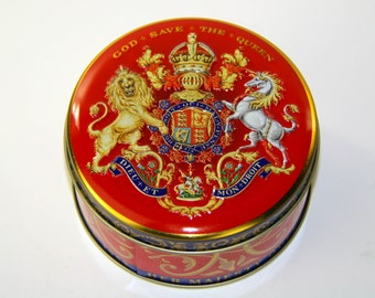 God Save The Queen Royal Collection Trust Her Majesty Queen Elizabeth II Crowned Westminster Abbey June 2nd 1953 Commemorative Tin Container