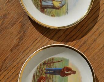 Set of Two Pastoral Mini-Plates    #125