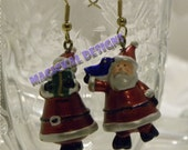Cone Santa Christmas Earrings - adorable