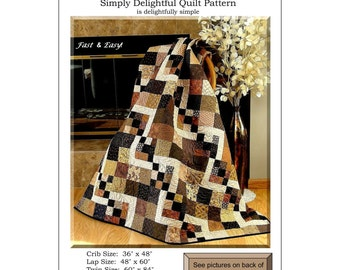 """Pattern """"Simply Delightful Quilt Pattern"""" by Pleasant Valley Designs (PVC431) Paper Pattern"""