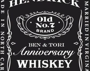 Custom Jack Daniel Whiskey Label