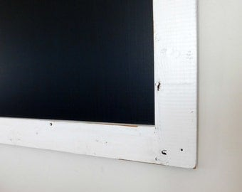 Extra Large Framed Chalkboard made from Reclaimed Wood Shown in Pure White 36 x 48 *MORE COLORS AVAILABLE*
