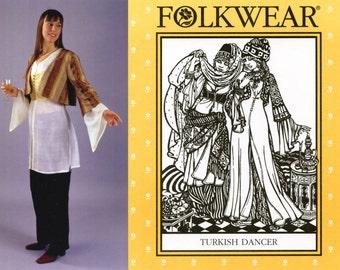 Folkwear Turkish Dancer Entari Robe, Vest & Jacket XS-2XL Sewing Pattern # 108