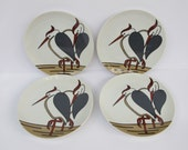 Fitz and Floyd Heron Plates - Set of Four