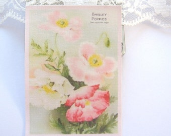dollhouse tea towel poppies 12th scale miniature