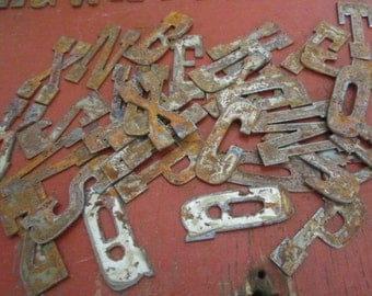 3 inch Rusty Metal Letters Rusty Gold 3 Inches Made in America Reclaimed Metal Great for Displays and Crafts